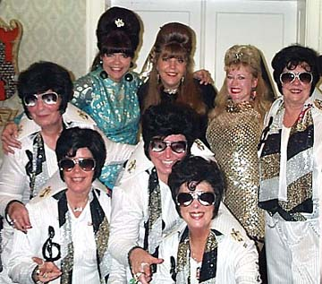 The Fabulettes with the Gracelines at the Night of 10 Elvises